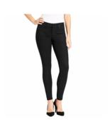 Jessica Simpson Super Skinny Coated Denim Black Jeans Pant 6/28 - $17.61