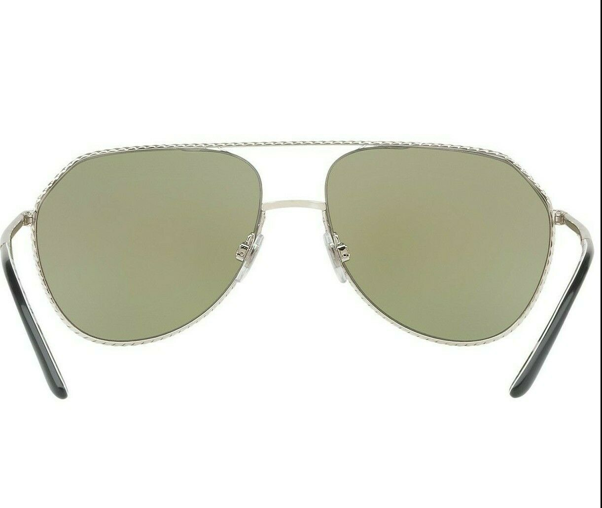 Dolce & Gabbana Pilot DG2191  Silver Frame Lilac Grey Mirror Lens Sunglasses image 4