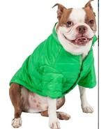 PET LIFE SPORTY AVALANCHE GREEN WEATHERPROOF COAT HOOD DOG PUPPY OUTDOOR... - $9.99