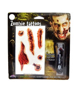 Zombie Tattoos and Tube of Bloody Scab New Halloween Costume - $7.99