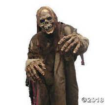 Flesh Eater Hideous Skeletal Decaying Horror Latex Adult Halloween Costume Mask - £45.12 GBP