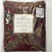 Croscill Imperial Empress Red Gold King Pillow Sham Damask New - $541,98 MXN