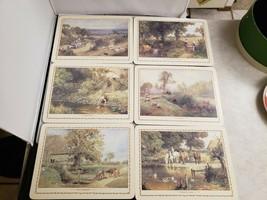 Cloverleaf Melamine Mats Pastoral Scene M154 Made in UK In Box - $46.75