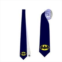 Necktie batman superhero comics symbol logo wedding fun groomsmen bachelor tie image 1