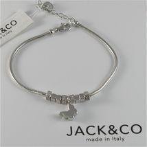 Silver Bracelet 925 Jack&co with Star Dog Butterfly Four-Leaf Clover or Cat image 3