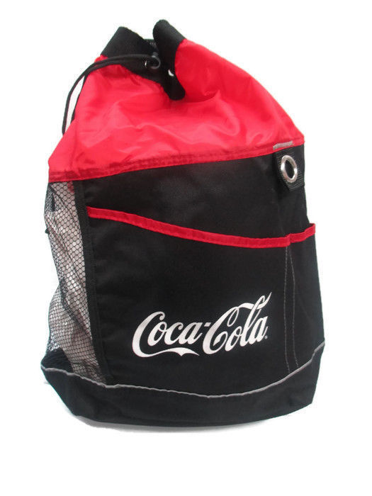 Coca-Cola Drawstring Beach Bag with Shoulder Strap and Top Handle - BRAND NEW