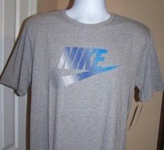 Nike Multi Color Logo Pullover T Shirt Mens Sz L Gray NWT - $16.78