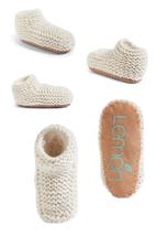 Lemon Knit Slipper Booties One Size Ivory $35 - NWT - $17.99