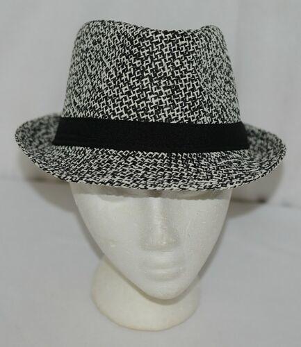 Howards Brand Arianna Collection 89005 Black White Men's Tweed Fedora Hat