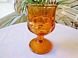 Colony Glass Co. Dark Amber Crown Pattern c 1960-1970 Wine Glass(s) - $7.92