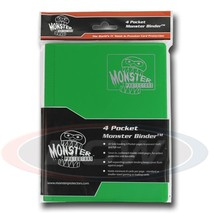 4-POCKET MONSTER PROTECTOR BINDER - MATTE EMERALD GREEN - $16.63