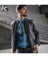 KUEGOU New Spring Mens Casual Jackets Pu Leather Gray Color Brand Clothi... - $195.00+