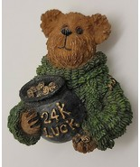 Boyds Bear 24k luck pot of gold St Patrick's Day lucky bear in green swe... - $9.41