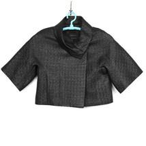 BCBGMAXAZRIA Womens Cropped Bolero Jacket Black Size S Small Shimmery Te... - $39.55