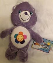 "2004 Care Bears Purple Harmony Bear 7"" Plush Doll With Tag - $9.89"
