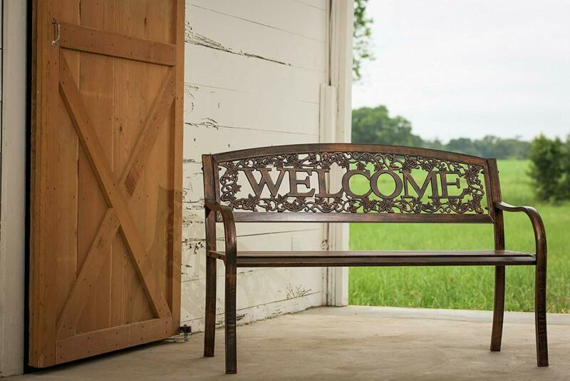 Leigh Country Tx94101 Tx 94101 Metal Welcome Bench