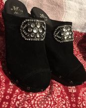 Studded Women's Velour Gem Miss amp; Black Sparkly Me Sz 10 Heels wYaqPO7