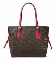 MICHAEL Michael Kors Voyager East West Signature Tote (Brown/Burnt Red) - $248.00
