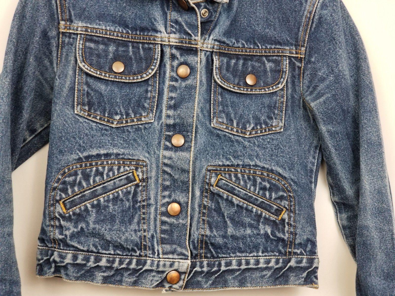 GAP Kids Denim Jean Jacket Coat Long Sleeve Blue Pockets Large Factory Store image 3