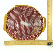 Longaberger 1999 Christmas Popcorn Basket w Protector & Red White Liner 15156 image 11