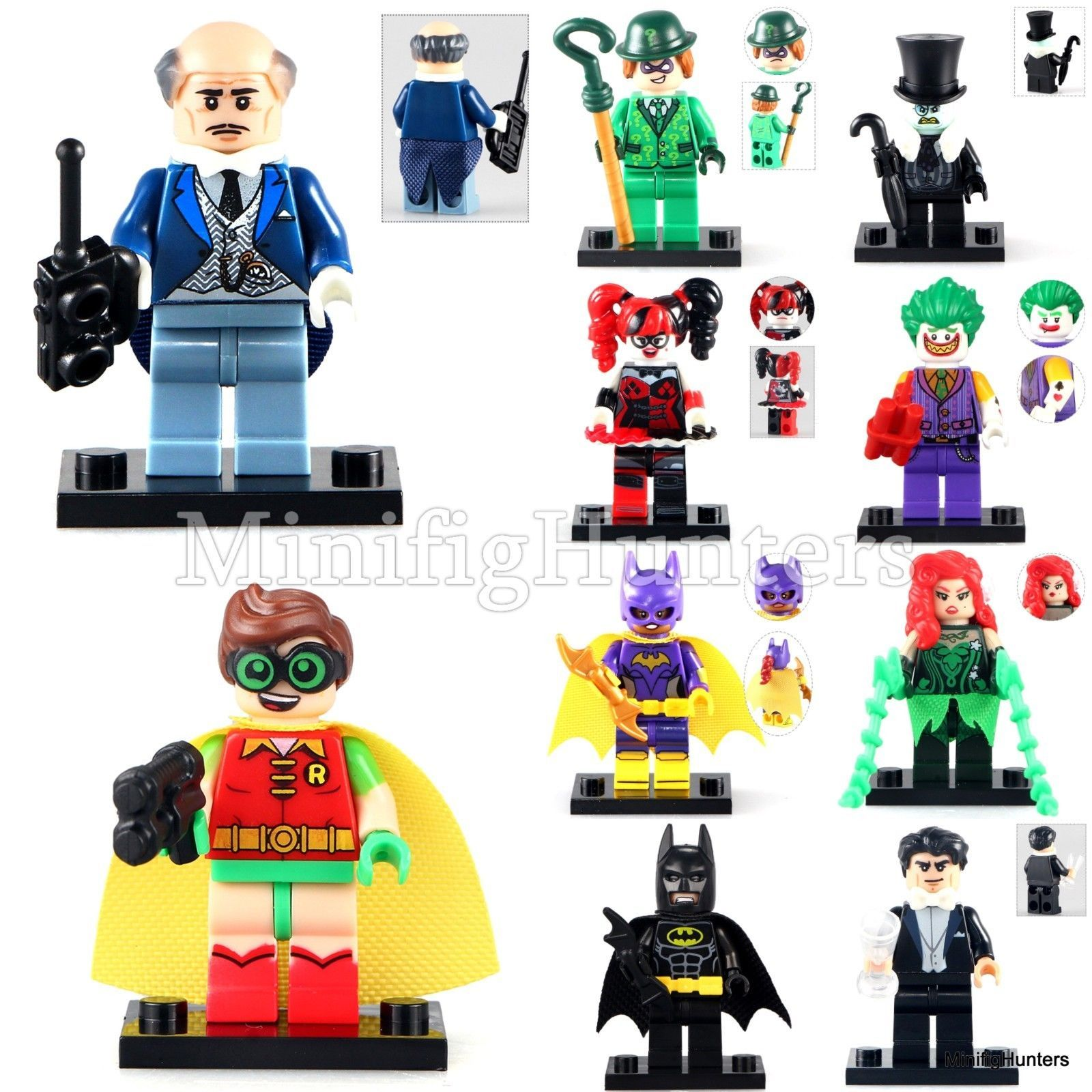 WB Warner Brothers Batman Movie DC Minifigures Mini Custom Figures fits lego for sale  USA