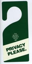 Beverly Heritage Hotel Privacy Please Door Hangar Milpitas California - $14.85