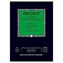 """Arches Watercolor Paper Pad, 140 Pound, Cold Press, 11.69""""x16.53"""" 1795094 - $23.27"""