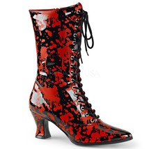 "FUNTASMA Victorian-120BL Series 2 3/4"" Heel Calf-High Boot - Black-Red P... - $41.95"