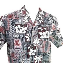 Royal Creations Tribal Gray Red Hibiscus Sea Turtles Large Hawaiian Aloh... - $29.69