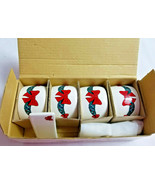 Christmas Holiday Placecards & Napkin Ring Set Red Bows 4 each Dinning - $17.99