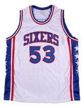 Darryl Dawkins #53 Philadelphia Basketball Jersey Sewn White Any Size - $34.99
