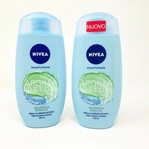Nivea Lot/2 Ginger Basil Shower Gel Italian Argilla Detox Body Wash 8.4 Oz New - $38.95