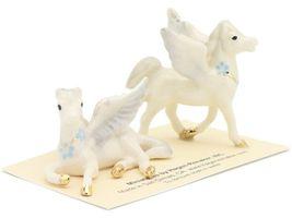 Hagen Renaker Miniature Fantasy Pegasus Lying and Standing Ceramic Figurine Set image 6