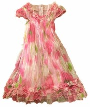 Biscotti Toddler Girls Dress Pink Sz 3T Floral Watercolor Party Special ... - $18.70