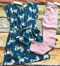 Gymboree 7 Mix N Match Outlet Unicorn Teal Knit Dress Lavender Leggings NWT - $18.69