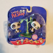 Littlest Pet Shop LPS Twin Panda With Bamboo Tree 89 & 90 Hasbro RARE MO... - $43.56