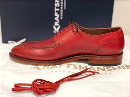 Handmade Men's Red Leather Lace Up Oxford Dress/Formal Shoes image 6