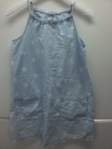 W13977 Womens OLD NAVY Light Wash Denim STAR PRINT DRESS High Neck MEDIUM - $28.96