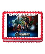 THE AVENGERS edible cake image party cake topper decoration frosting sheet - $7.80