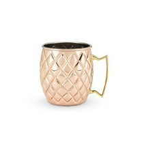 Mug, Old Kentucky Copper Pineapple Stainless Steel Insulated Mule Mugs - $33.79