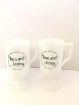 Tom and Jerry vintage glass pedestal Mugs (2). - $13.10