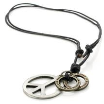 Men Genuine Leather Unisex Pendant Necklace Chain - $19.63