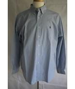 Ralph Lauren Men's Long Sleeve Classic Fit Button Down Dress Shirt Size XL - $19.79
