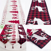 Christmas table runner/Christmas decoration tablecloths/Cotton Embroider... - $11.99