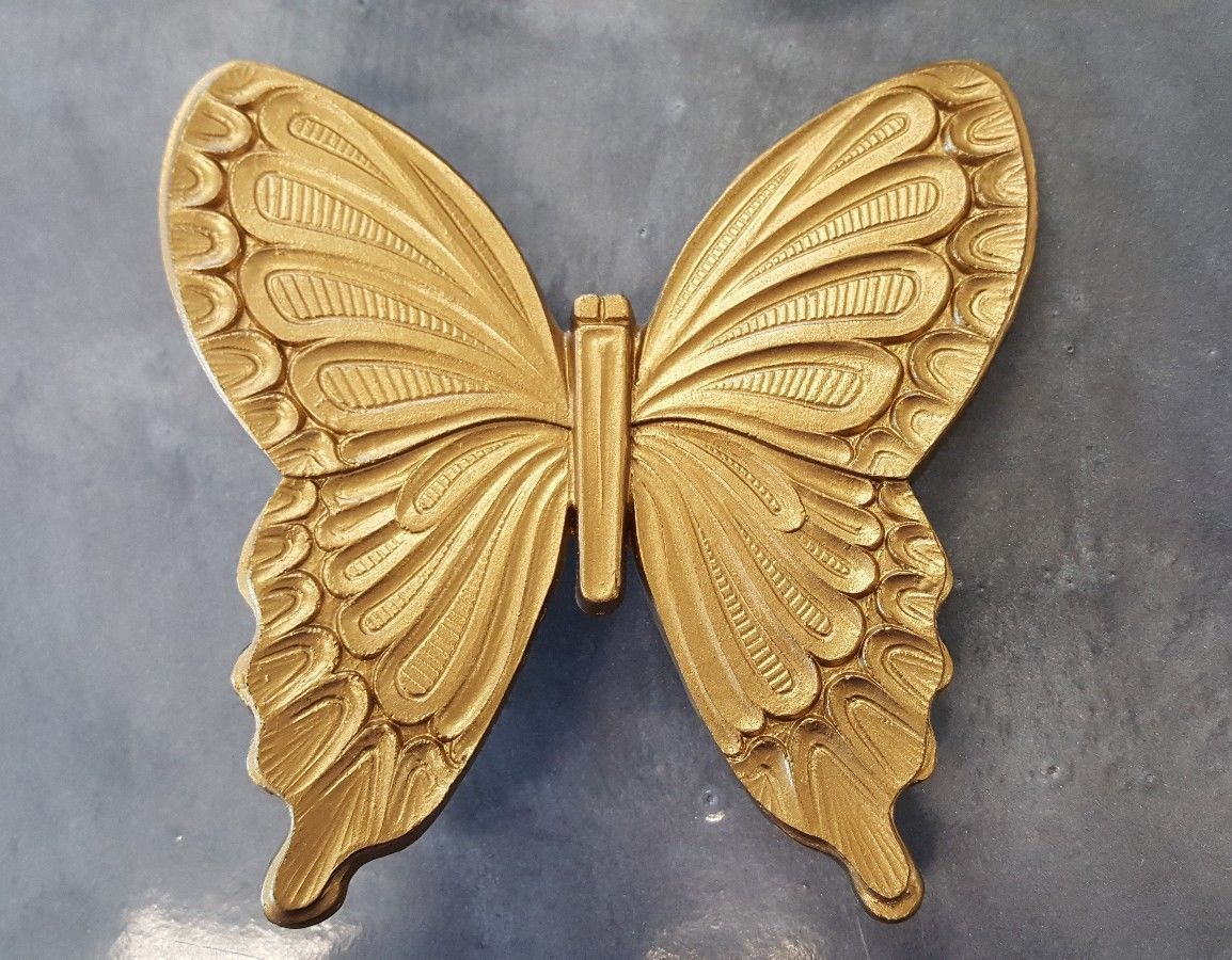 Vintage Gold Butterflies 1968 Wall Hangings and 50 similar items