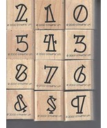 Stampin' Up! Bold-Line Alphabet Numbers Set of 12 Retired 2000 - $39.99