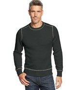 NEW G.H. BASS & CO BLACK RIBBED KNIT CREWNECK SWEATER SIZE M - $33.31