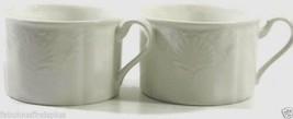 Hampton Bays by Mikasa Flat Cup Embossed Shells Ultra Ceram Set of 2  - $9.69