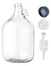 Home Brew Ohio  One gal Glass Jug With Twin Bubble Airlock, Polyseal Lid... - $15.42