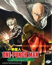One Punch Man Complete Season 1 & 2 English Dubbed DVD 24 Eps + OVA TV Special